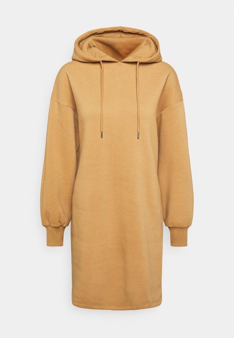 NU-IN - HOODIE MINI DRESS - Day dress - camel