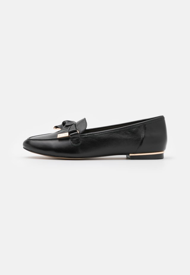 FILTERED BOW DETAIL  - Slip-ons - black