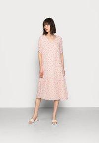 Selected Femme - SLFSINA MIDI DRESS - Day dress - sandshell - 0