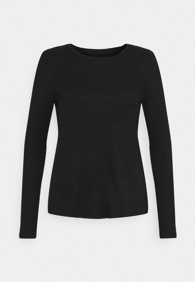 CREW BUTTER PLUSH - Sweter - true black