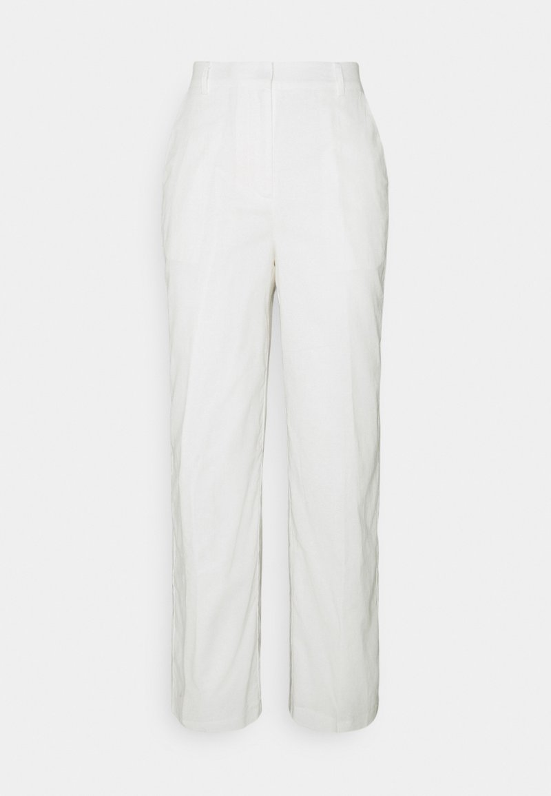 NA-KD - LOOSE FIT SUIT PANTS - Trousers - white