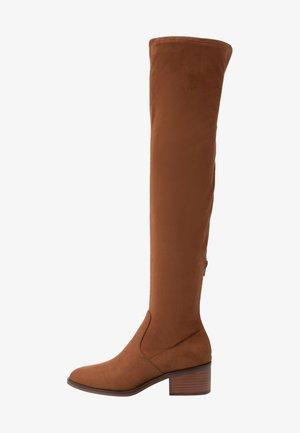 GEORGETTE - Stivali sopra il ginocchio - brown