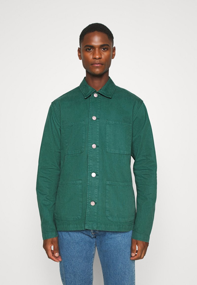 Selected Homme - SLHLOOSETONY OVERSHIRT - Summer jacket - forest biome