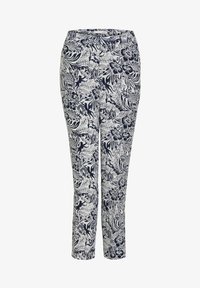 Oui - TROPICAL - Trousers - white blue - 4
