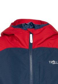 TrollKids - KIDS BERGEN - Hardshell jacket - bright red/mystic blue - 3