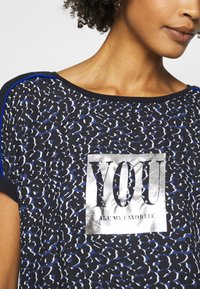 comma casual identity - Print T-shirt - blue - 4