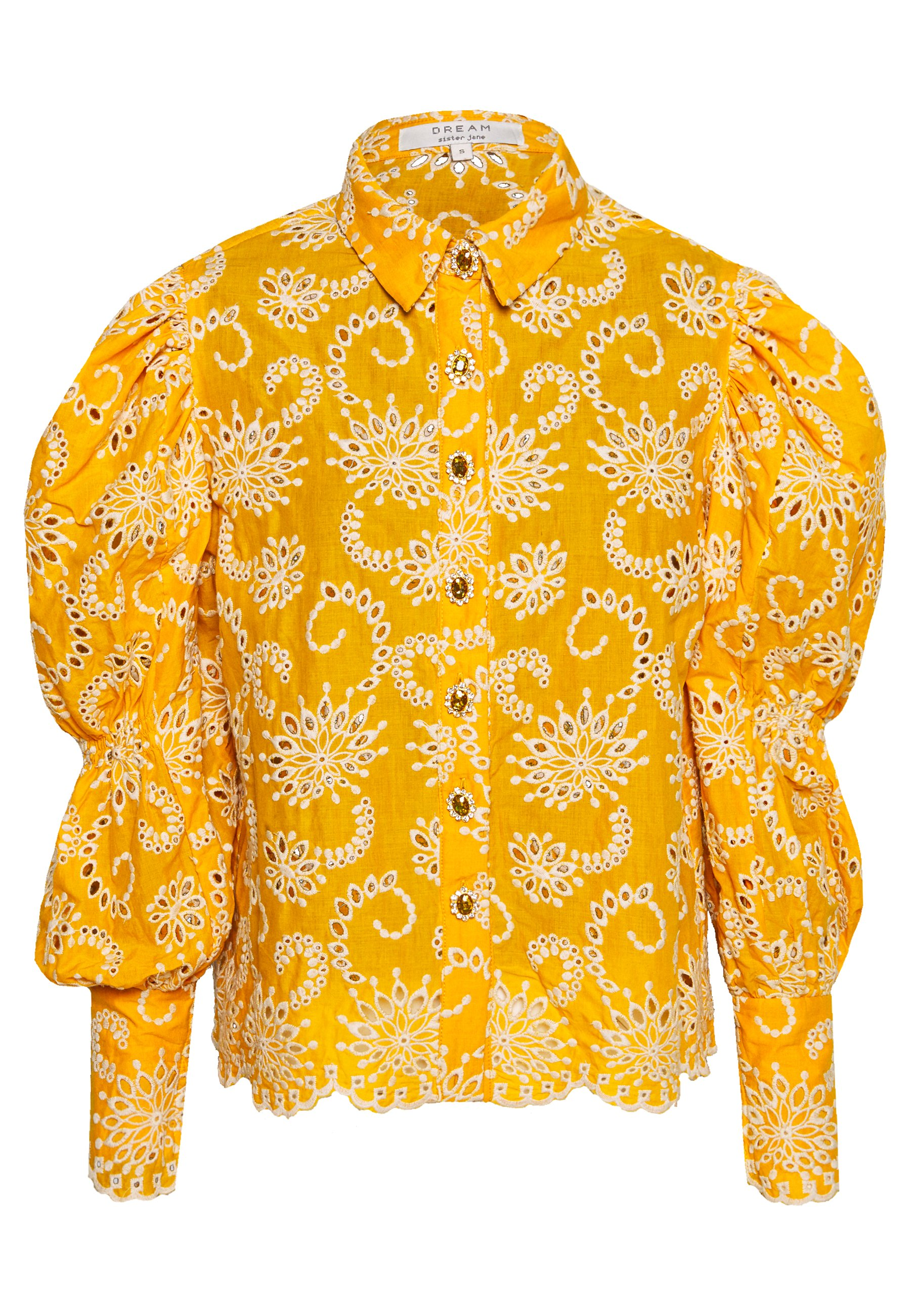 Sister Jane BROIDERY RANCH SCALLOP SHIRT - Bluser - yellow