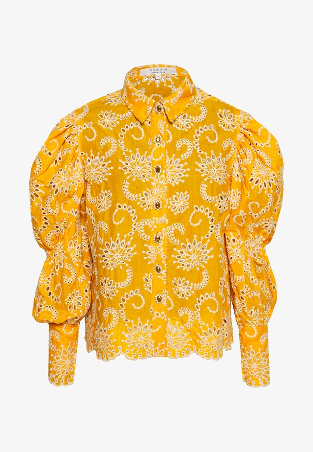 BROIDERY RANCH SCALLOP SHIRT - Camicetta - yellow