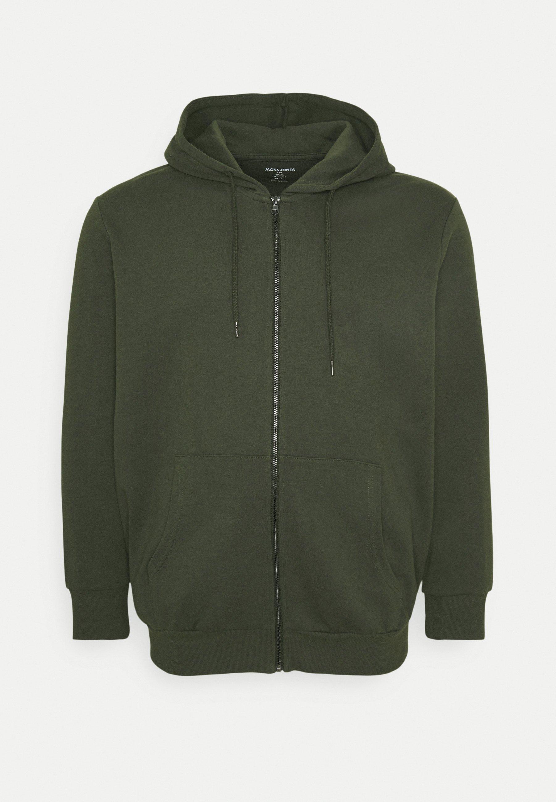 Men JJEBASIC ZIP HOOD - Zip-up sweatshirt