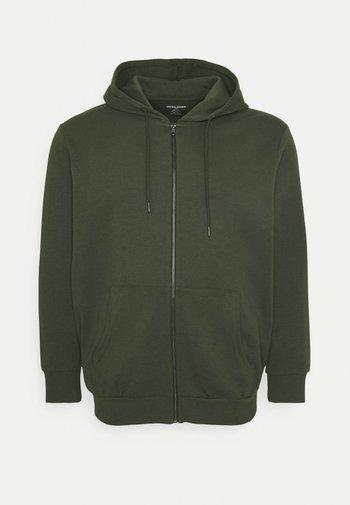 JJEBASIC ZIP HOOD - Zip-up sweatshirt - forest night