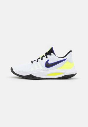PRECISION V - Chaussures de basket - white/black/barely volt/volt