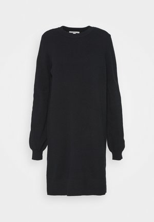 FITTED PUFFY - Robe pull - black