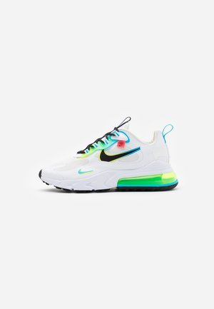 AIR MAX 270 REACT UNISEX - Sneaker low - white/black/blue fury/volt/flash crimson