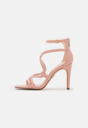 VEGAN MERCY - Sandály na vysokém podpatku - rose