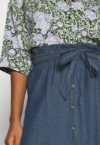 Pieces - PCELSA SKIRT - A-line skirt - dark blue denim - 4