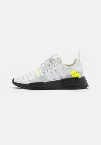 NMD_R1 UNISEX - Trainers - footwear white/crystal white/solar yellow