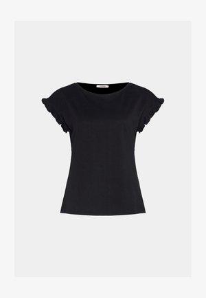 MIT RÜSCHEN - Print T-shirt - schwarz