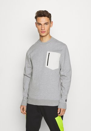 MUST HAVES SPORTS - Sweatshirt - medium grey heather/cream white