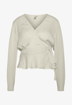 LOVELY WRAP BLOUSE - Camicetta - creme