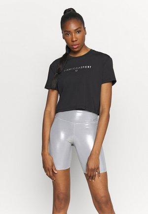 AVE FITNESS - T-shirt z nadrukiem - black/silver