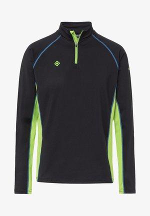 TAKU - T-shirt de sport - black/light green/royal