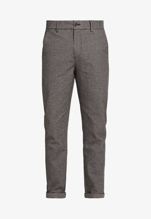 JJIACE JJCHARLES HOUNDSTOOTH - Trousers - brown/stone