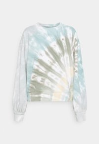 Abercrombie & Fitch - PATTERN CREW - Sweatshirt - green/multicolor - 0