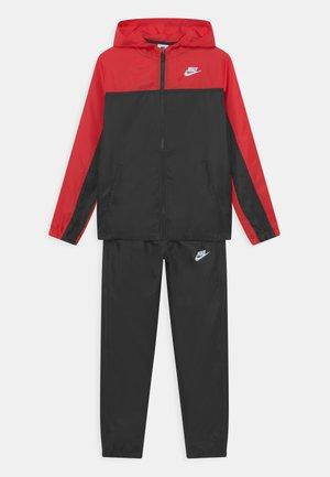 TRACK SUIT SET UNISEX - Tracksuit - university red/black