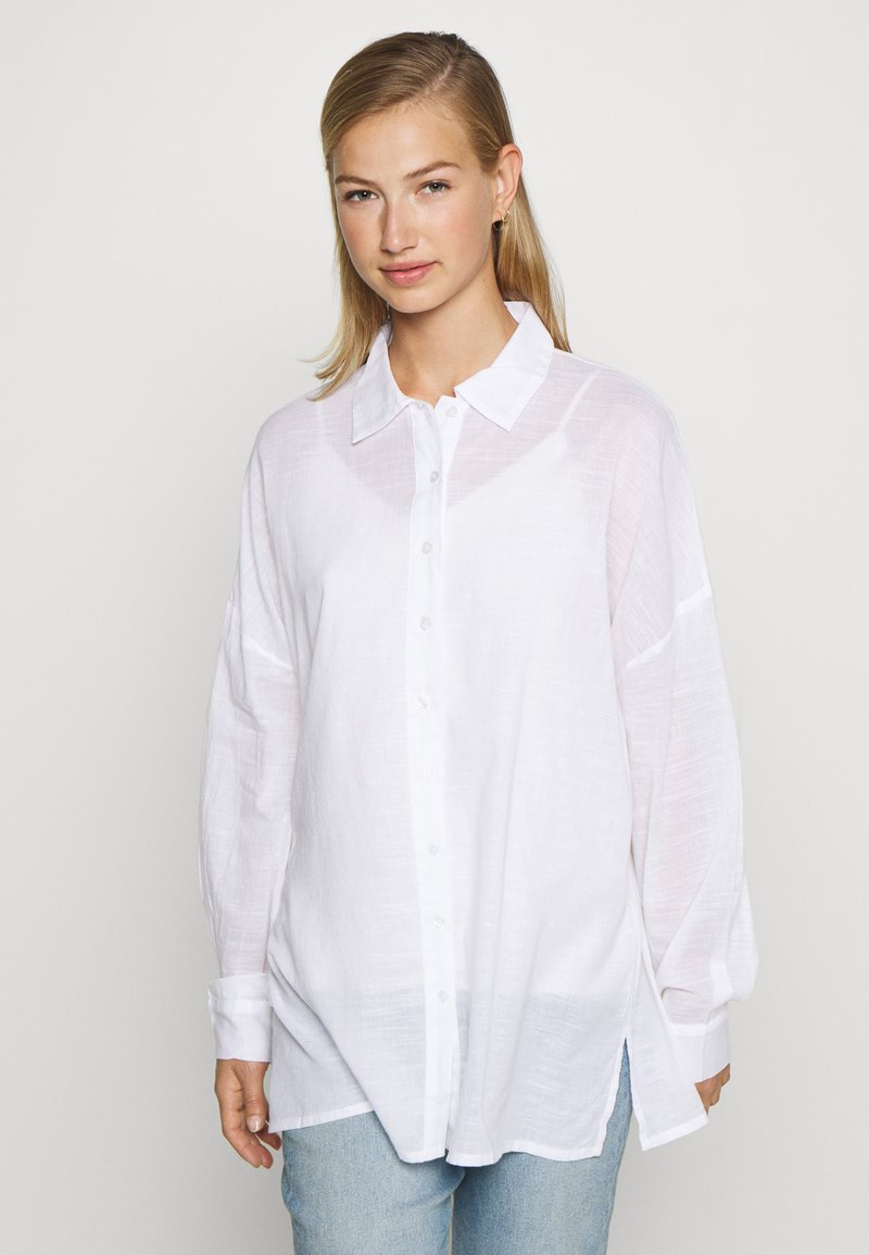 Nly by Nelly - SUMMER - Button-down blouse - white
