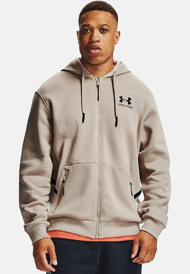 Zip-up sweatshirt - highland buff