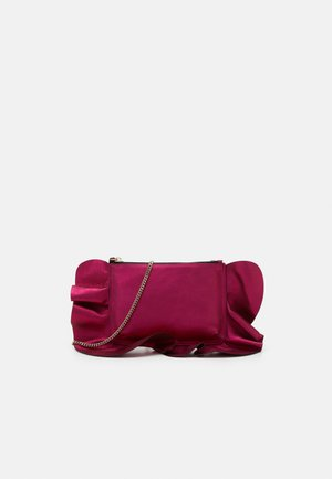 ROCK RUFFLES POUCHETTE CHAIN - Across body bag - glossy pink