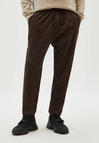 PULL&BEAR - Trousers - mottled brown - 0