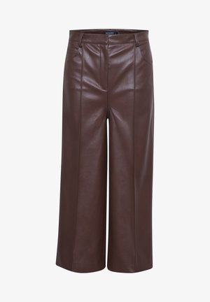 SLPATRICE  - Leather trousers - rum raisin