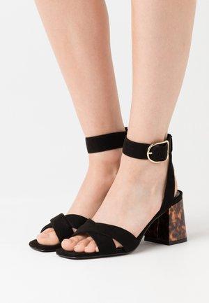 ONLAMANDA LIFE HEELED - Sandals - black