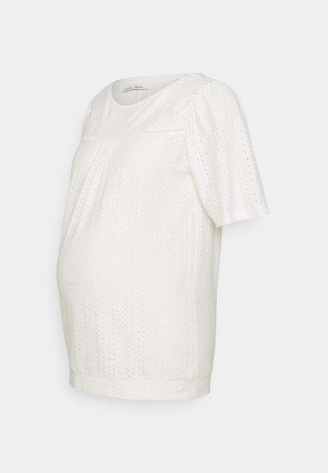 TEE SERINA - T-shirt imprimé - marshmallow