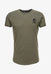 Gym King - LONG LINE CURVE TEE - T-shirt print - burnt olive