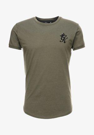 LONG LINE CURVE TEE - Print T-shirt - burnt olive