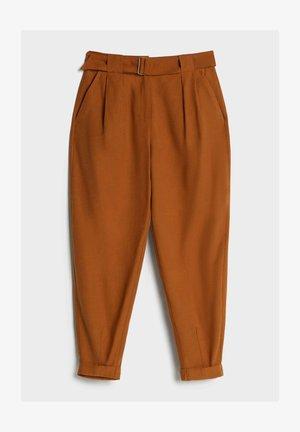 PUMPHOSE AUS LYOCELL - Stoffhose - brown