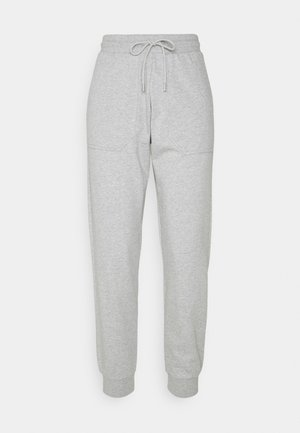 SLFSTASIE PANTS PETITE - Teplákové kalhoty - light grey melange