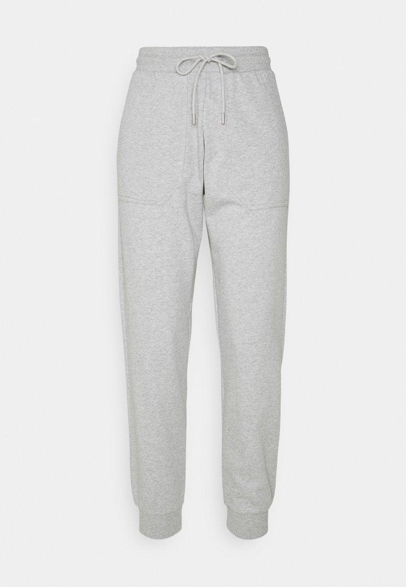 Selected Femme Petite - SLFSTASIE PANTS PETITE - Tracksuit bottoms - light grey melange