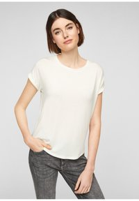 Q/S designed by - Basic T-shirt - cream - 0