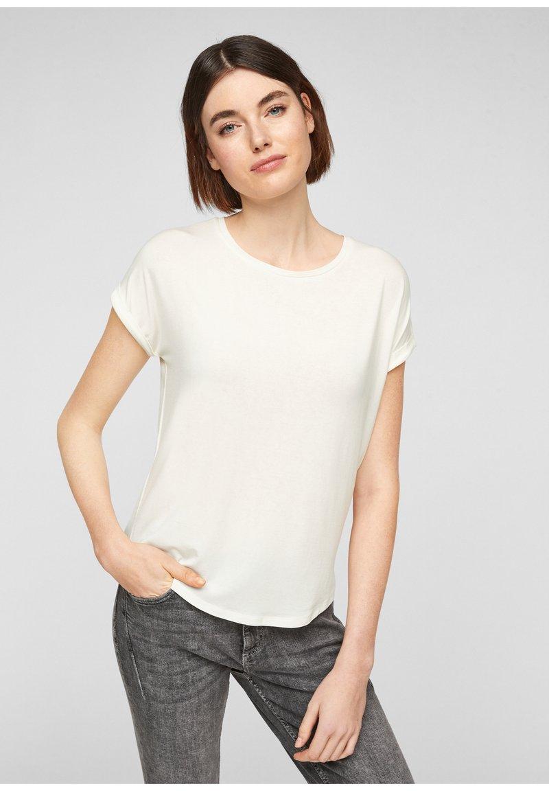 Q/S designed by - Basic T-shirt - cream