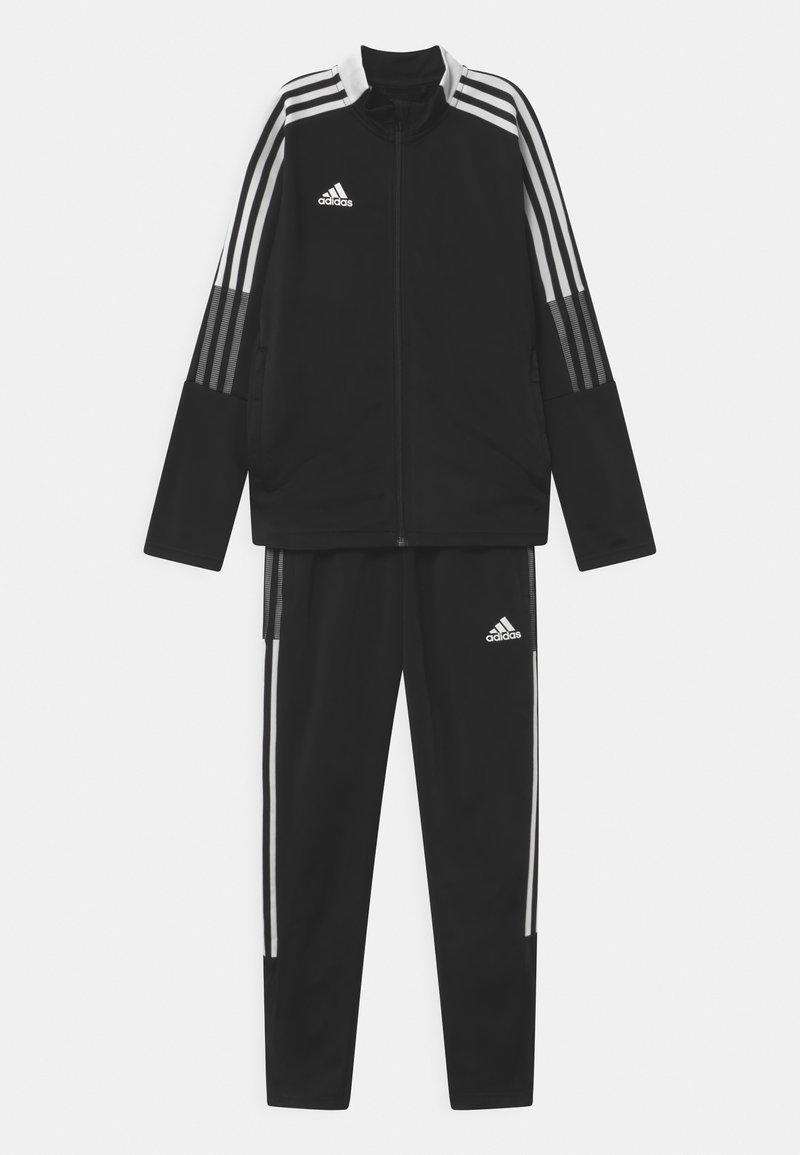 adidas Performance - TIRO SET UNISEX - Tracksuit - black