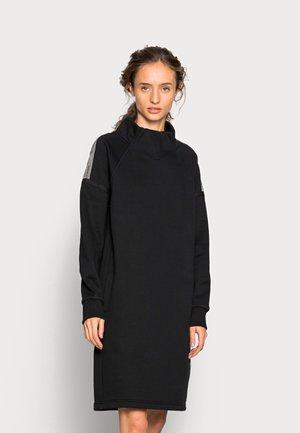 TAPE RAGLAN DRESS - Jurk - black