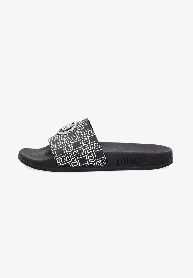 WITH LOGO - Pantofole - black