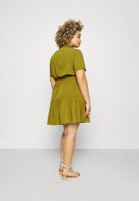 Simply Be - UTILITY SHIRT DRESS - Shirt dress - khaki - 2
