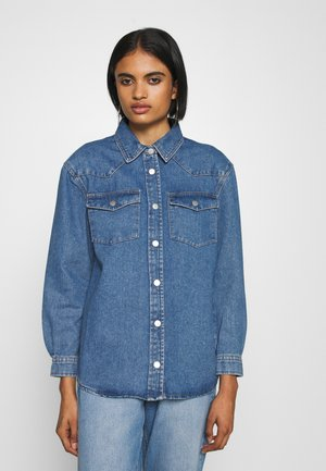 ONLJEREMY LIFE SHIRT - Button-down blouse - blue denim