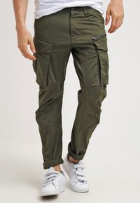 G-Star - ROVIC ZIP 3D STRAIGHT TAPERED - Pantalones cargo - dark bronze green - 0