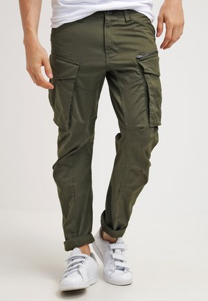 ROVIC ZIP 3D STRAIGHT TAPERED - Pantaloni cargo - dark bronze green