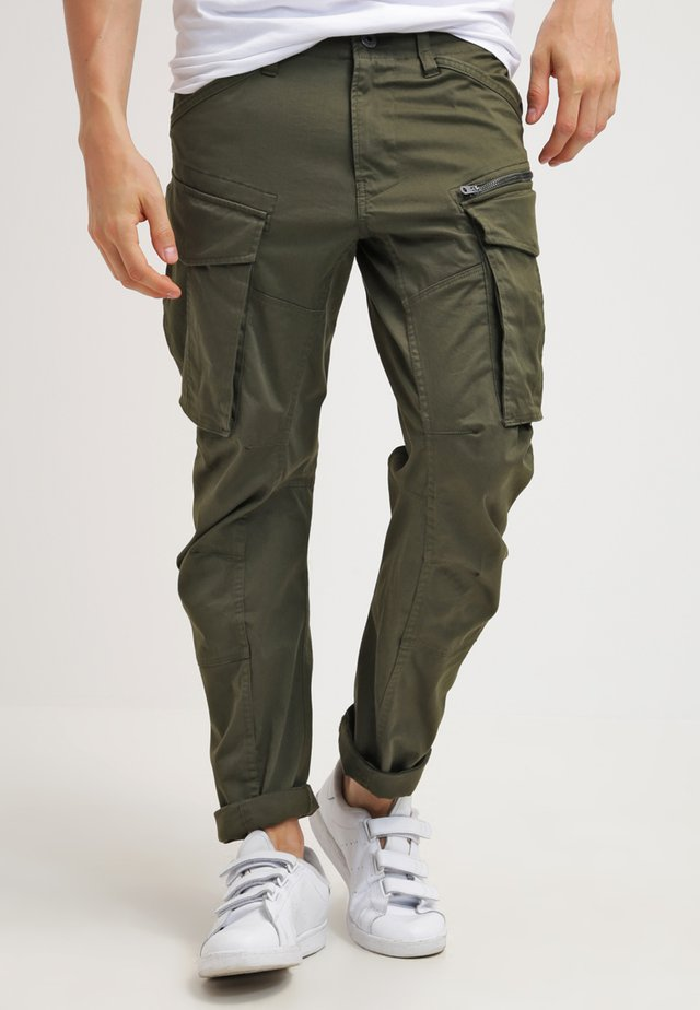 ROVIC ZIP 3D STRAIGHT TAPERED - Pantalones cargo - dark bronze green